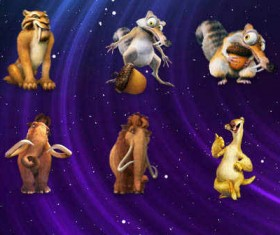 Ice Age Characters icons