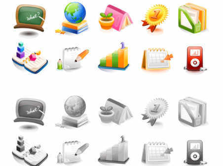 Free Vector School icons