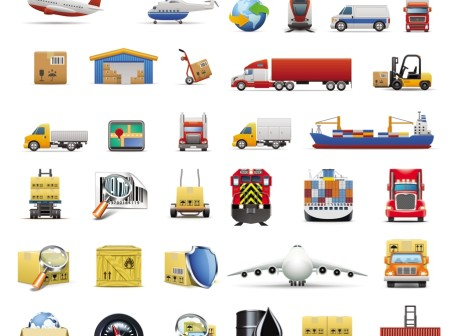 Transport clipart icons vector