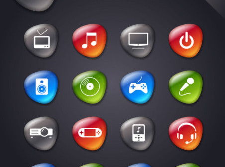 SMOOTH SOFT STONE ICON 05 – VECTOR