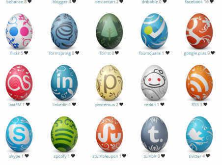 Social Network Easter Eggs icons