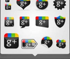 Creative Google Plus icons material