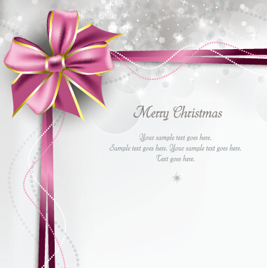 2015 merry christmas bow greeting cards vector 01 free download 2015 merry christmas bow greeting cards vector 01 m4hsunfo