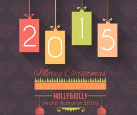 2015 christmas and new year hanging ornament background 01