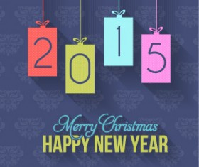 2015 christmas and new year hanging ornament background 03