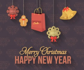 2015 christmas and new year hanging ornament background 04