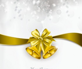 2015 christmas bow and bell vector cards 01