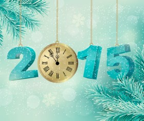 2015 christmas with new year pendant creative background 01