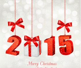 2015 christmas with new year pendant creative background 02