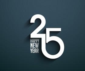 2015 happy new year dark background vector 02