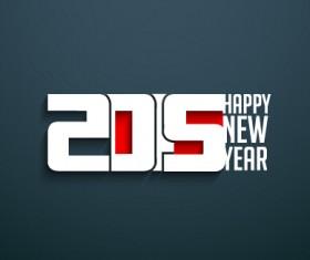2015 happy new year dark background vector 03