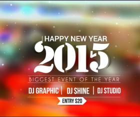 2015 new year blurs backgrounds vector set 02