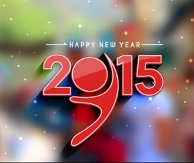 2015 new year blurs backgrounds vector set 04