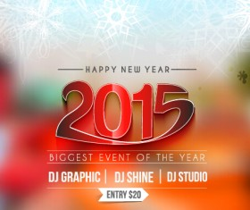 2015 new year blurs backgrounds vector set 06