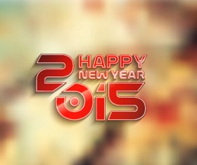 2015 new year blurs backgrounds vector set 07