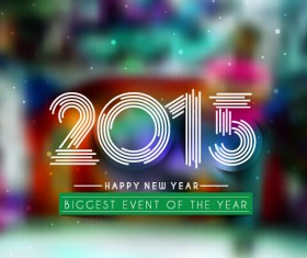 2015 new year blurs backgrounds vector set 08