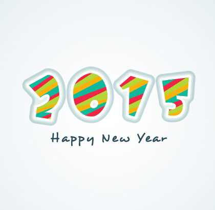 2015 new year theme vector material 02