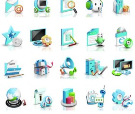 3D business infographics icons