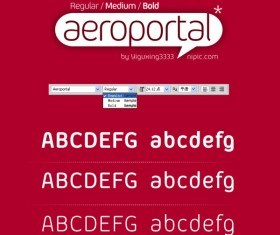 Aeroportal series fonts set