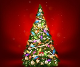 Beautiful Christmas tree 2015 background vector 01