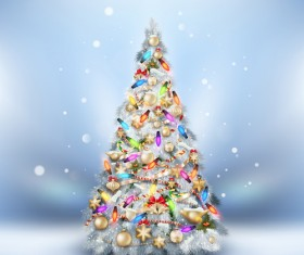 Beautiful Christmas tree 2015 background vector 02