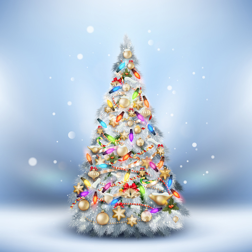 Beautiful Christmas tree 2015 background vector 02 free download