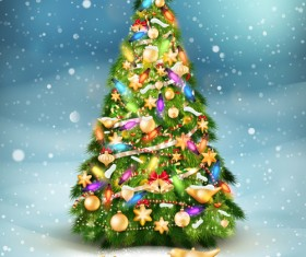 Beautiful Christmas tree 2015 background vector 03