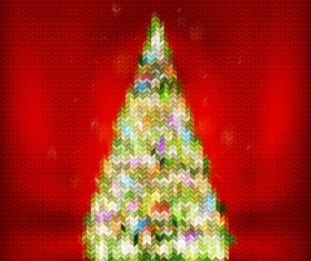 Beautiful Christmas tree 2015 background vector 04