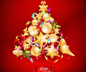 Beautiful Christmas tree 2015 background vector 05