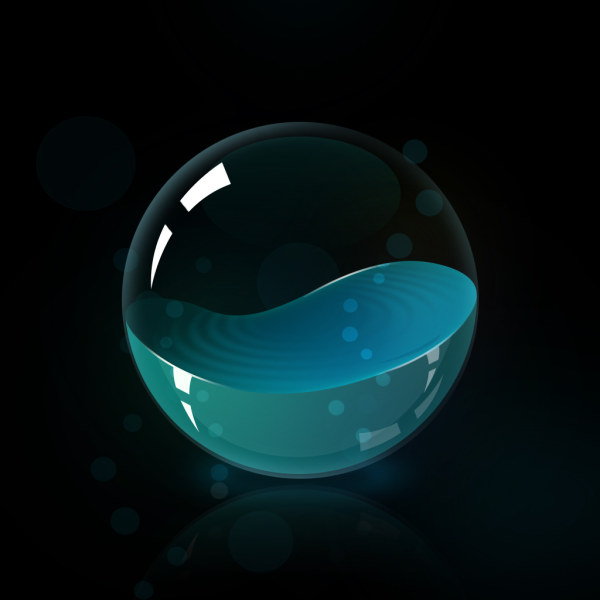 Beautiful glass ball pas background