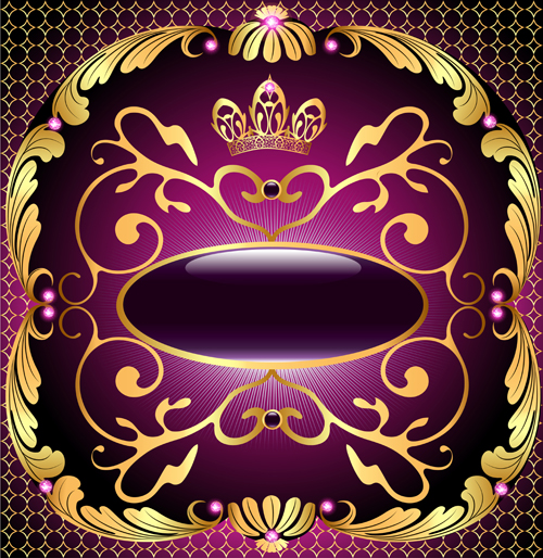 Beautiful precious stones and diamonds floral pattern vector 05