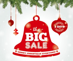 Big sale christmas creative background vector 02