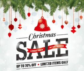 Big sale christmas creative background vector 04
