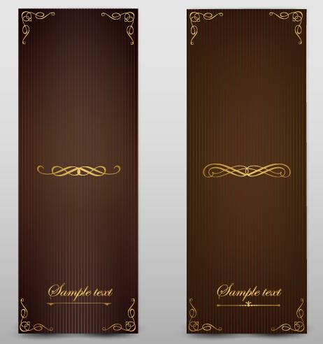 Blank banner ornate decor vector 02