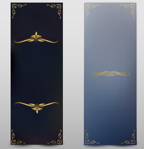 Blank banner ornate decor vector 03