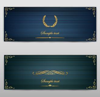 Blank banner ornate decor vector 06
