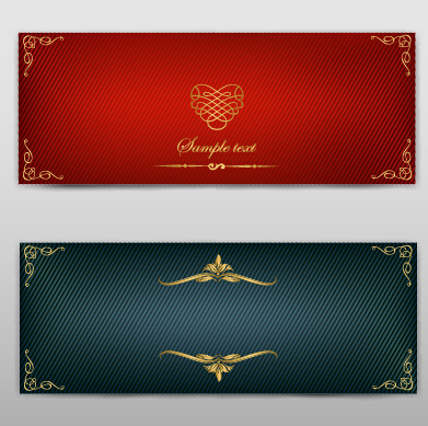 Blank banner ornate decor vector 07