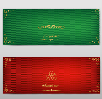 Blank banner ornate decor vector 08