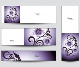Brilliant flowers with banner background 04