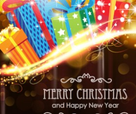Brown style 2015 christmas and new year background 01