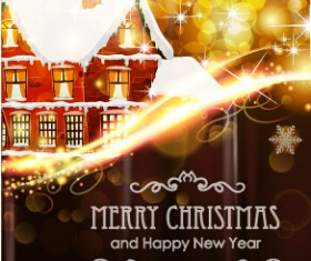 Brown style 2015 christmas and new year background 02