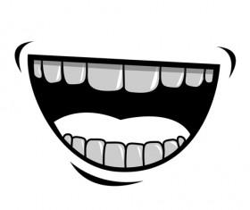 Cartoon mouth and teeth vector set 04