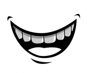 Cartoon mouth and teeth vector set 05