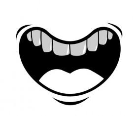 Cartoon mouth and teeth vector set 09