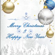 Link toChristmas ball and snow new year background