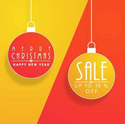 Christmas ball discount vector background art free download