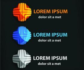 Colored company symbol with logos vector design 06