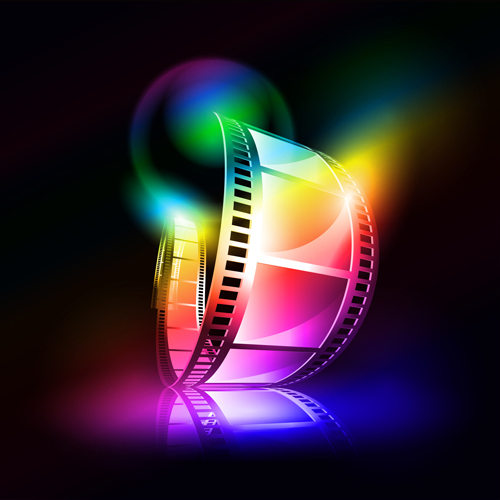 colorful film art background vector vector background