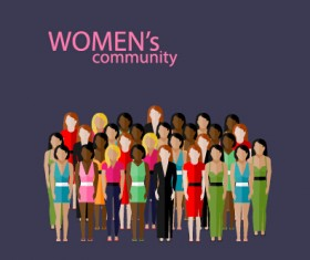 Community people vector template design 01