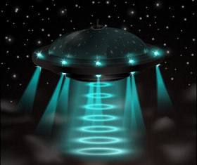 Concept UFO design elements background 03